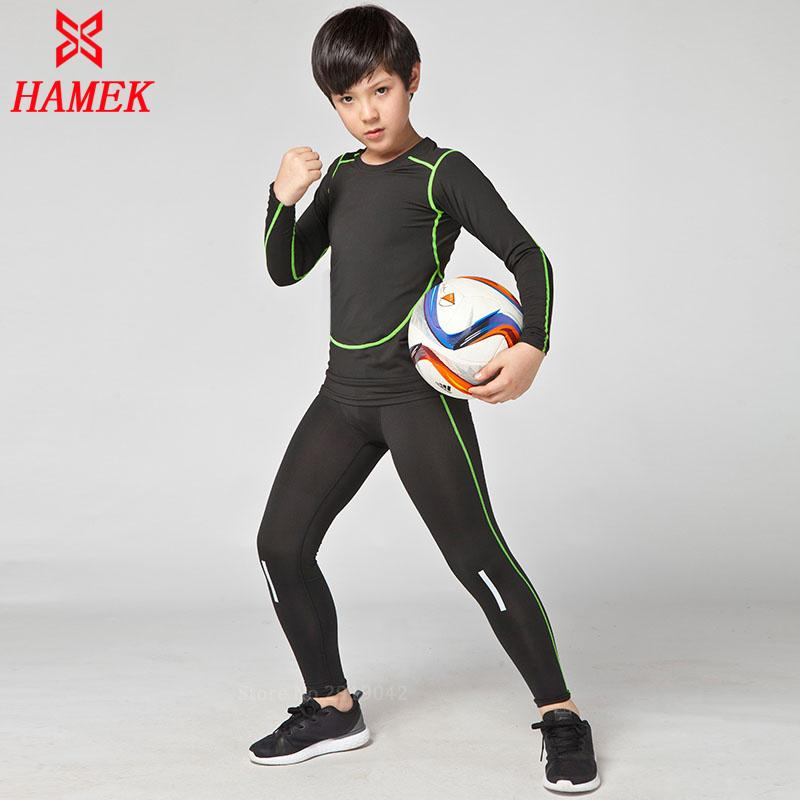a6346c0d54806 2019 New Kids Boys Compression Runing Shirts+Pants Set Survetement Football  Jerseys 2017 Youth Soccer Training Skinny Tights Leggings From Peniss, ...