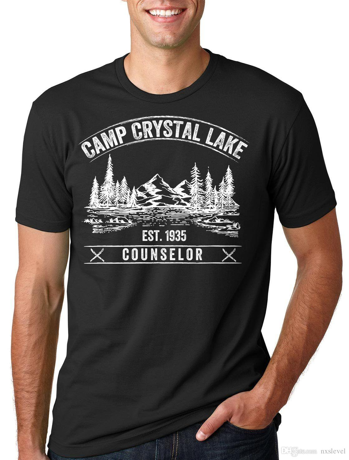 00e11dca4e2c Camp Crystal Lake T Shirt Counselor Tee Shirt Camp Camping T Shirt Summer Tee  Tee Shirts Mens T Shirts From Nxslevel
