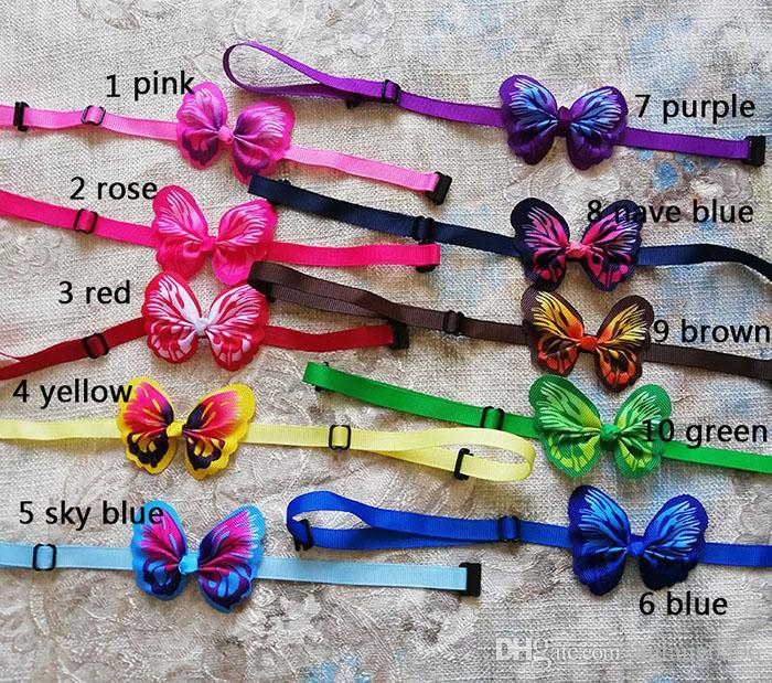 New Handmade Butterfly Pet Puppy Dog Cat Bow ties Adjustable Butterfly Dog Cat Bowties Dog Accessories Collar Pet Supplies