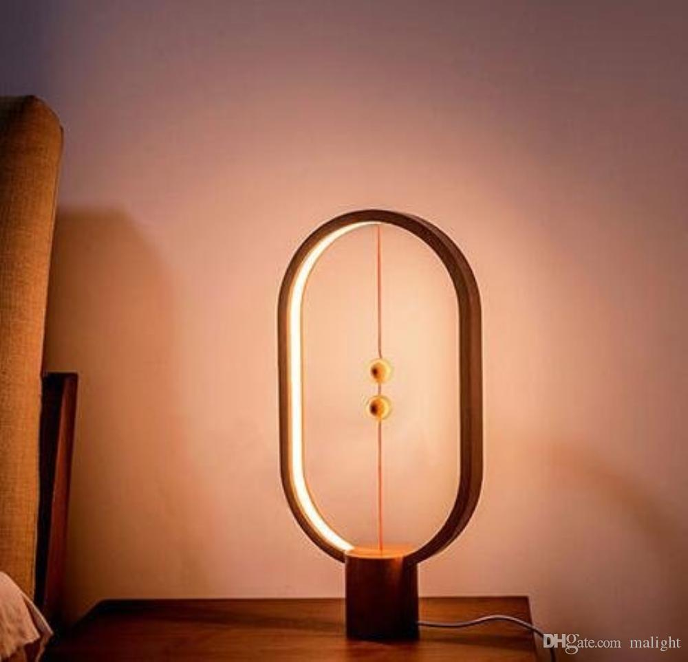2019 creative simple smart balance magnetic switch led table lamp rh dhgate com