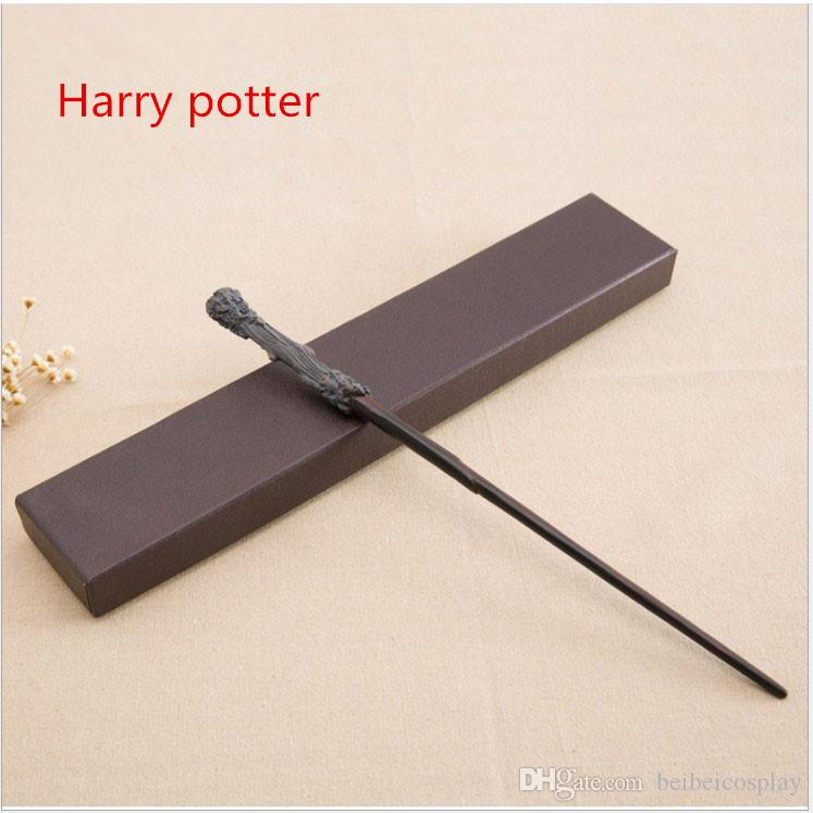 Harry Potter Magic Wand Cosplay Hot Popular Collection Metal Core the Elder Dumberdor Hermione Snap Ginny Ron lucius Harry potter Series