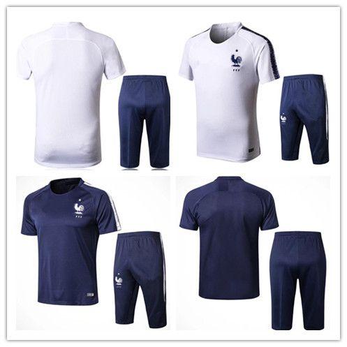 95560fe485 2018 France Tracksuit Soccer Jersey 18 19 Training Suit Soccer Wear ...