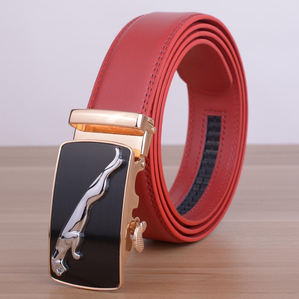 [Veroseice] Famoso diseñador Jaguar Cinturón para hombres Cuero de vaca Moda de lujo Cuero genuino Cinturón masculino Cinturones para hombres
