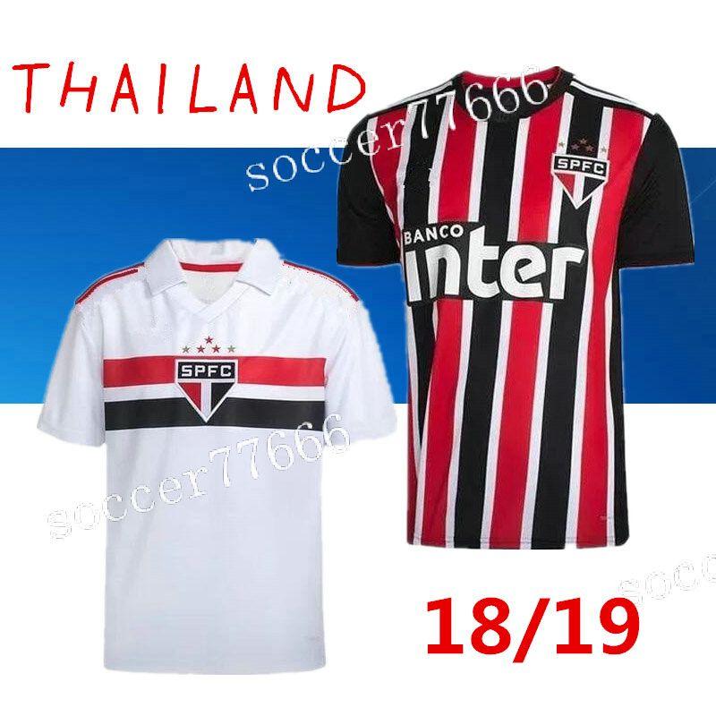 2859de03496 AAA 2018 Sao Paulo Soccer Jerseys Home Away ARBOLEDA 18 19 Diego ...