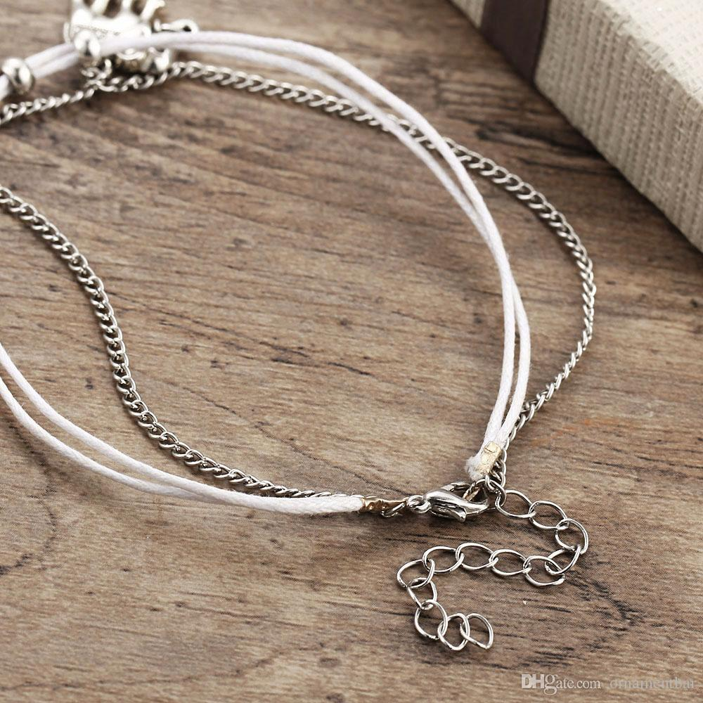 59006468994 2019 Vintage Star Elephant Anklets Bracelet For Women Boho Pendent Double  Layer Anklet Bohemian Foot Jewelry Gift Drop Shipping From Ornamentbar
