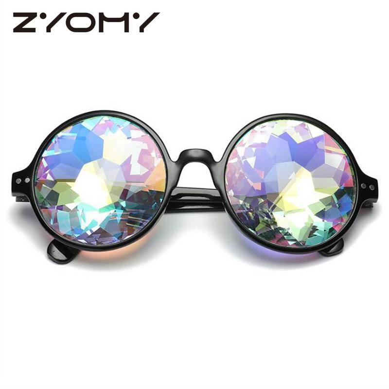 Compre ZYOMY Rodada Rave Festival Homens Mulheres Marca Designer  Caleidoscópio Holográfico Óculos De Sol Retro De Duoyun,  35.59    Pt.Dhgate.Com 6eb15ff104