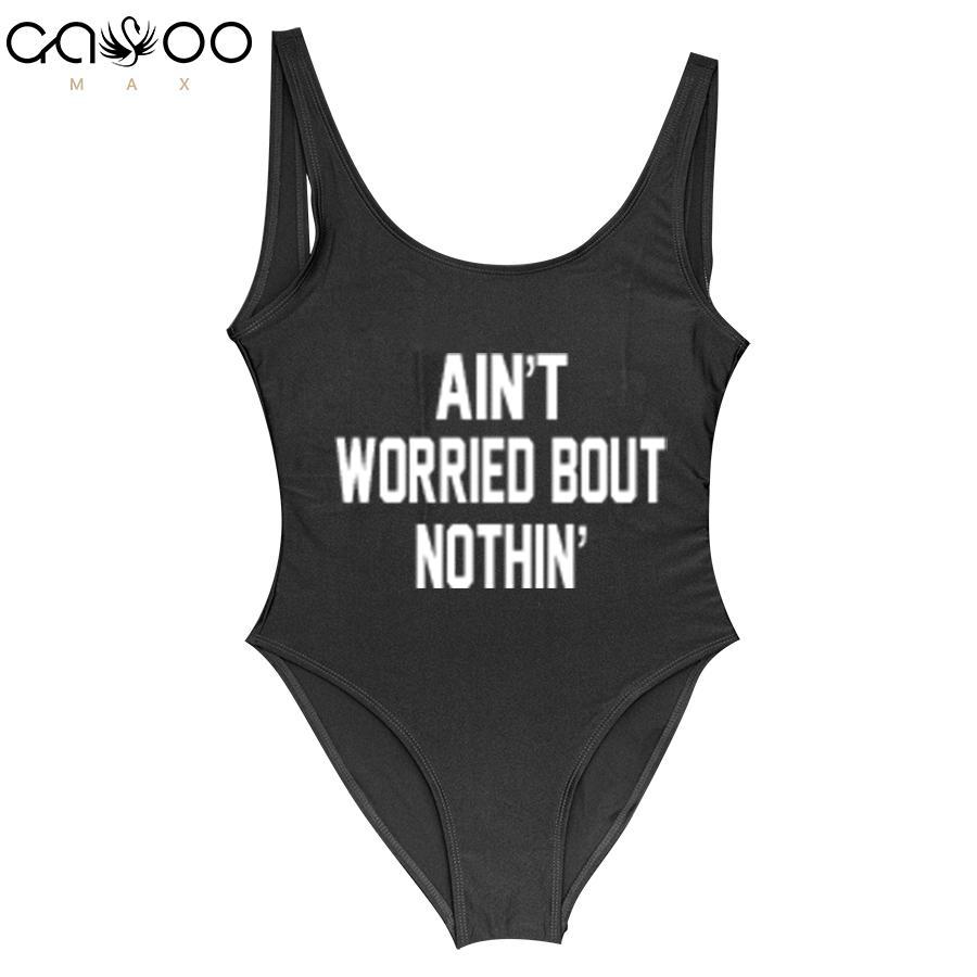 Hip Badpak.2019 Ain T Worried Bout Nothin 2018 Swimwear Women One Piece
