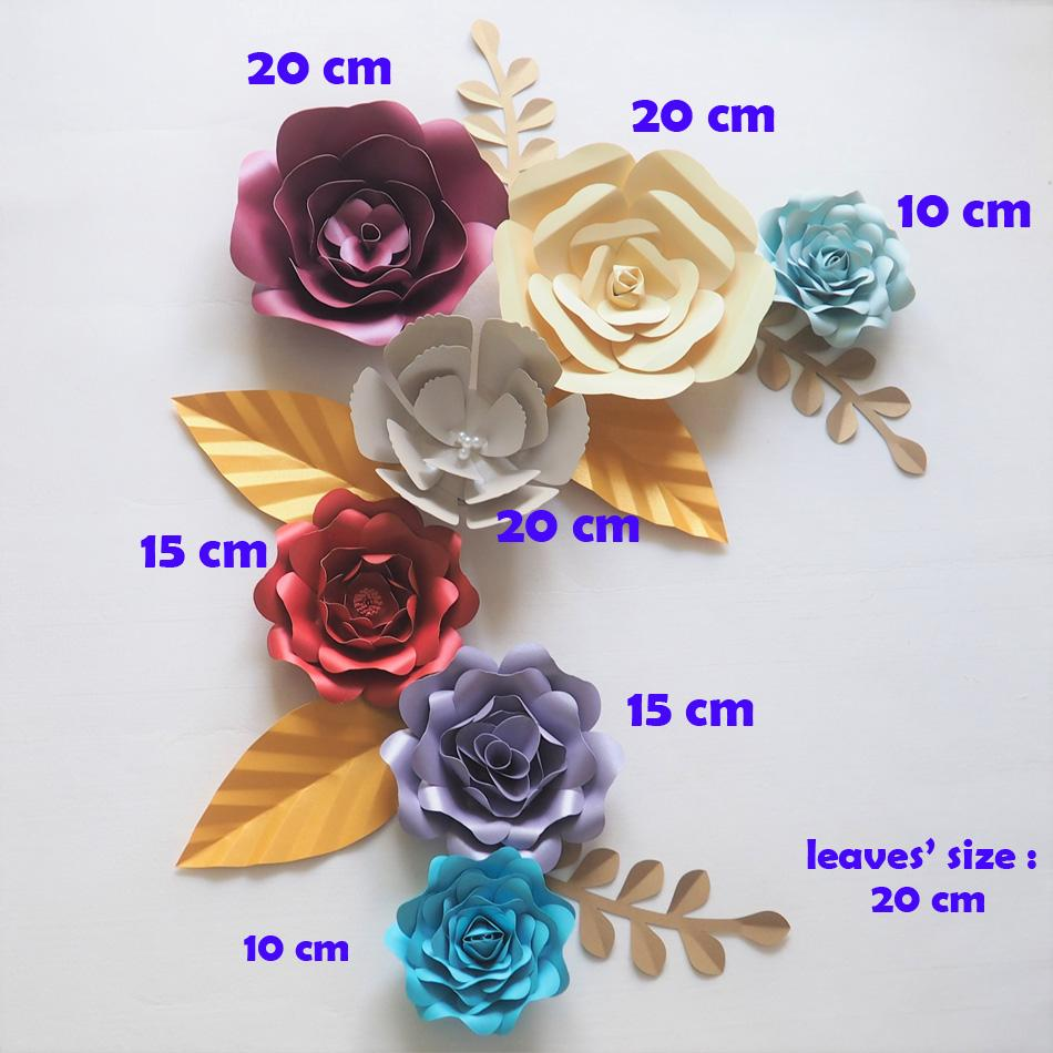 2018 Diy Giant Paper Flowers Backdrop Artificial Handmade Paper Rose