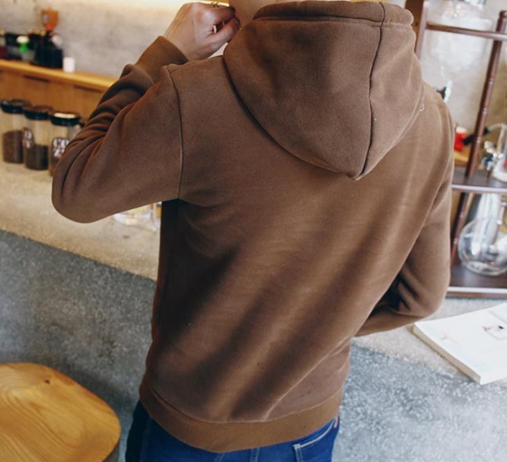 Sonbahar ve kış rahat düz renk uzun kollu kazak gelgit genç erkekler çift gömlek