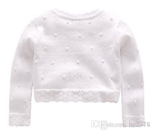 Flower Girl Sweater One Button Cotton Hollow Cardigan Choice Long Sleeves Air Conditioner Clothes