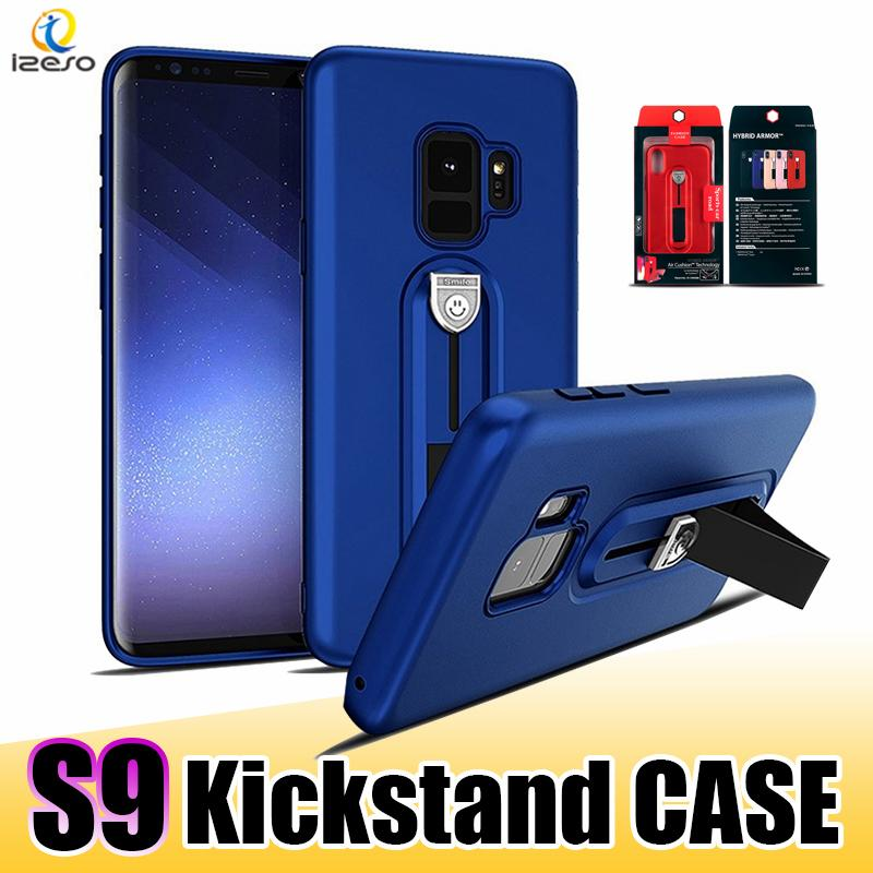 cheap for discount 377c8 2ce55 For Galaxy S9 Plus Kickstand Cell Phone Case Soft TPU Back Cover Protector  with Smile Face for iPhone X 8 Plus