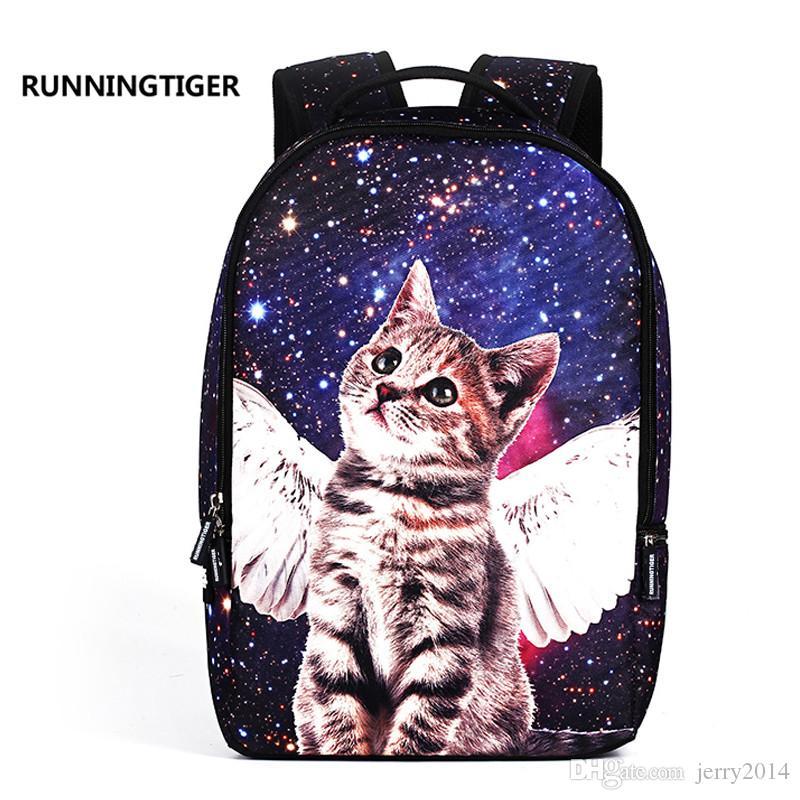 bbf623aaa367 2018 New FASHION Cute Cat Women Backpack School Bags For Teenage ...
