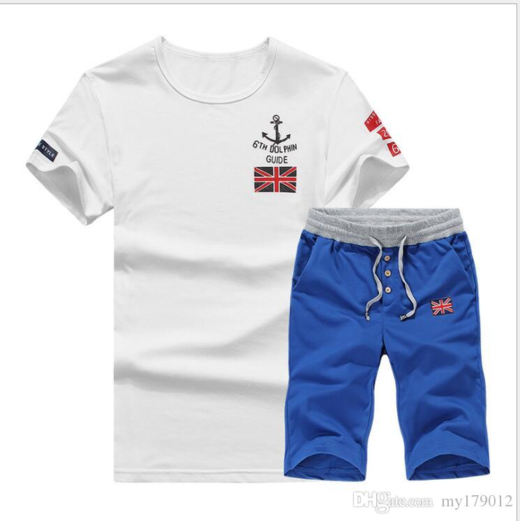 2018 New Fashion Summer Short Sets Men Casual Coconut Island Printing Suits For Men Chinese Style Suit Sets T Shirt +Pants 4XL
