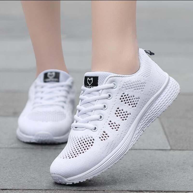 New 2018 Spring Fashion Women Casual Shoes Suede Leather Platform Shoes  Women Sneakers Ladies White Trainers Chaussure Femme Cute Shoes Mens Shoes  Online ... bbaa987a08ed