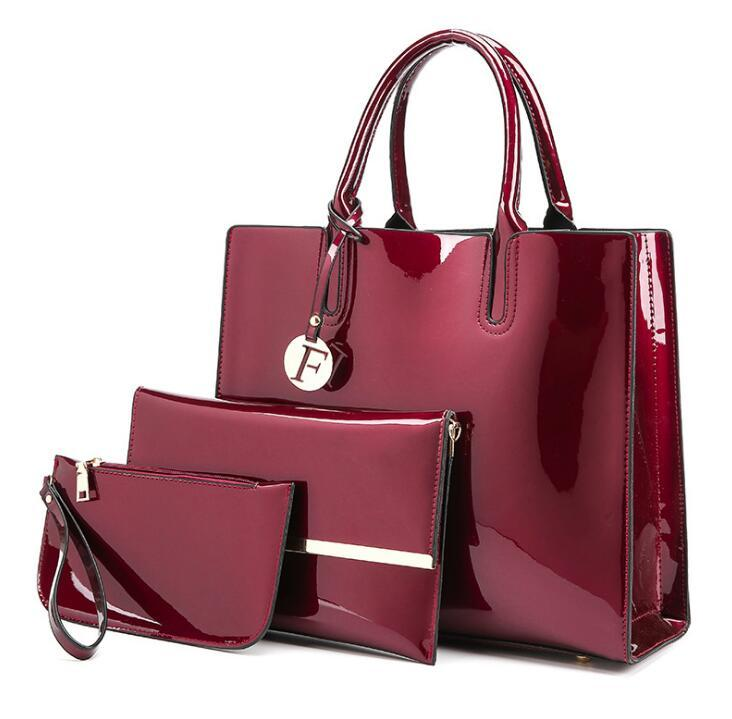 2cf4e93a6f Luxury Patent Leather Handbags Women Bags Fashion Brand Designer Tote Bag  Ladies Handbags Vintage Female Shoulder Bags Bolsas Cheap Bags Cheap Designer  Bags ...