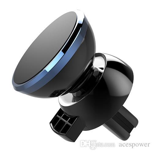 Récent magnétique fort voiture grille d'aération à 360 degrés de rotation universel Support de téléphone avec le paquet pour téléphone mobile