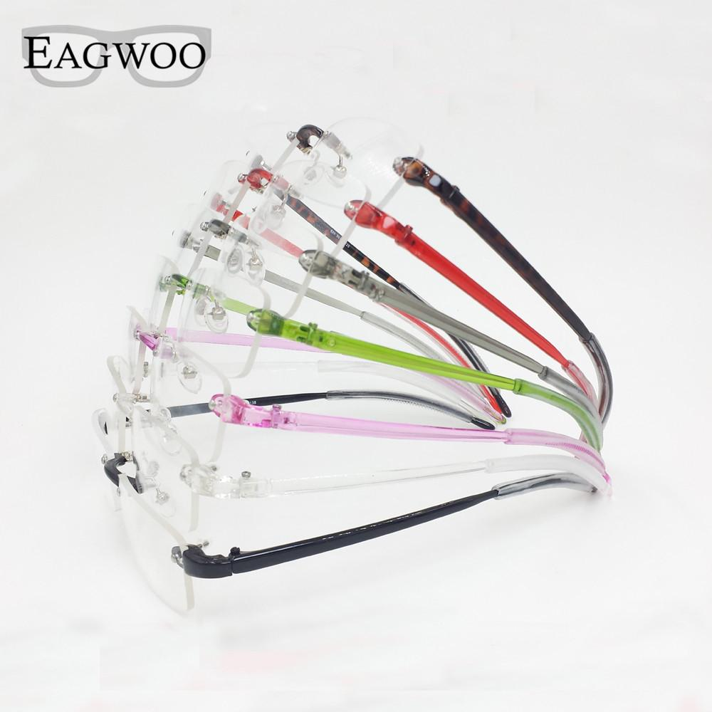 5b1c76cbcb EAGWOO Plastic TR Eyeglasses Rimless Optical Glasses Men Women Plain  Spectacles Reading Myopia Vision Glasses Frame Shadow 082 UK 2019 From  G6241163