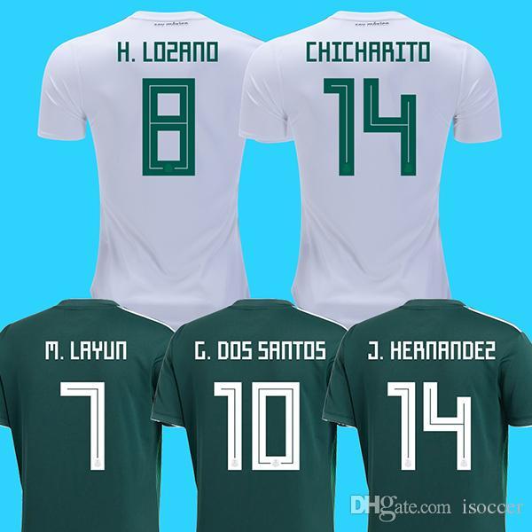 2018 Mexico Away White Soccer Jerseys LOZANO Football Shirt 2018 World Cup  CARLOS GUARDADO G.DOS SANTOS Mexico Camisetas CHICHARITO Maillot UK 2019  From ... bf73b3a48
