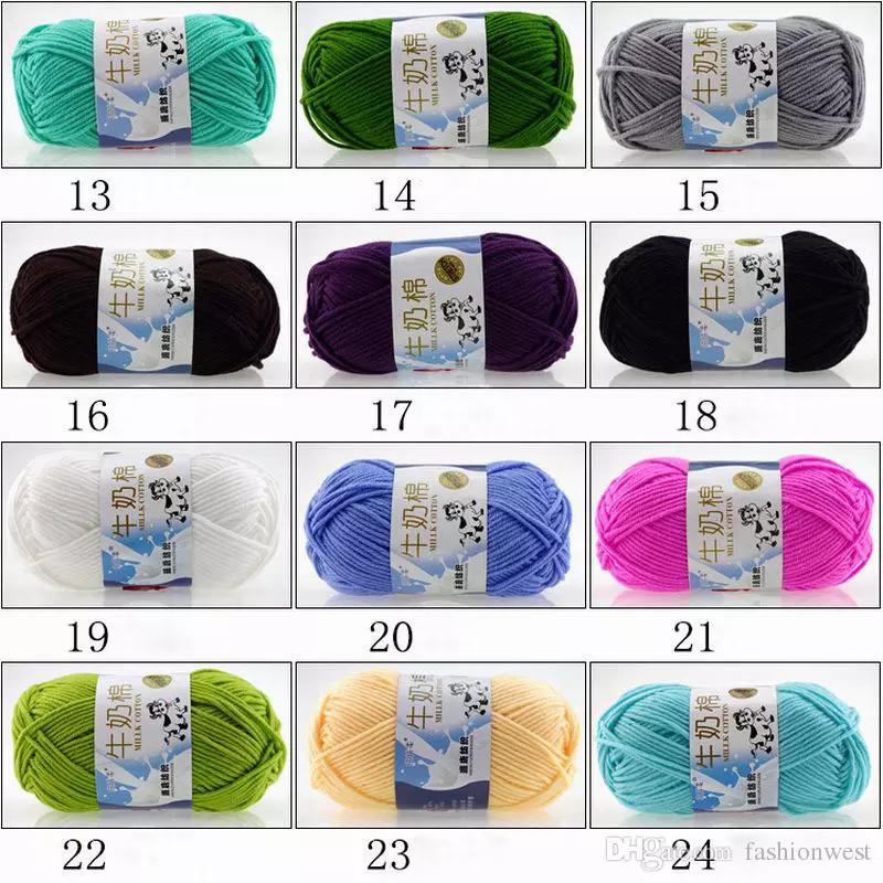Knitting Yarn Chic Soft Cotton Bamboo Crochet Knitting Baby Knit
