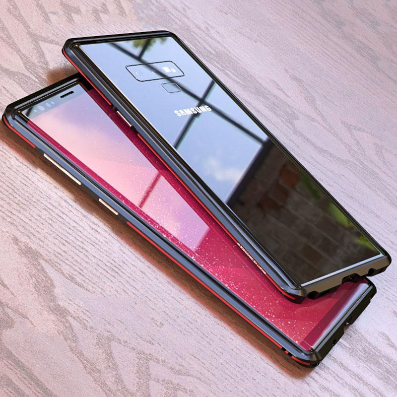 reputable site 79ea9 22b91 Metal Bumper For Samsung Galaxy Note 9 Cover Shockproof Case Ultra Thin  Aluminum Bumper Frame For Samsung Note9 Slim Cover Shell