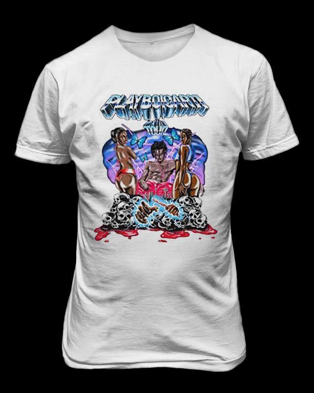 7fe19cb4f Graphic T Shirts Short Playboi Carti Inspired Tour T Shirt Rap Hip Hop Tee  Crew Neck Short Sleeve Mens T Shirts Purchase T Shirt Crazy Tee Shirts  Online ...