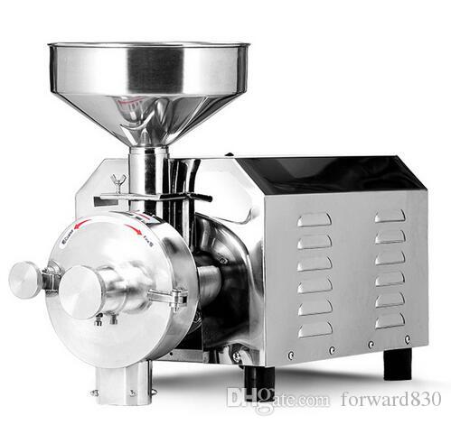 3KW Spice and Chinese Herb Grinder, Zucchero Peppe Mill, Soia Grain Food Grinding Machine, ACCIAIO INOSSIDABILE
