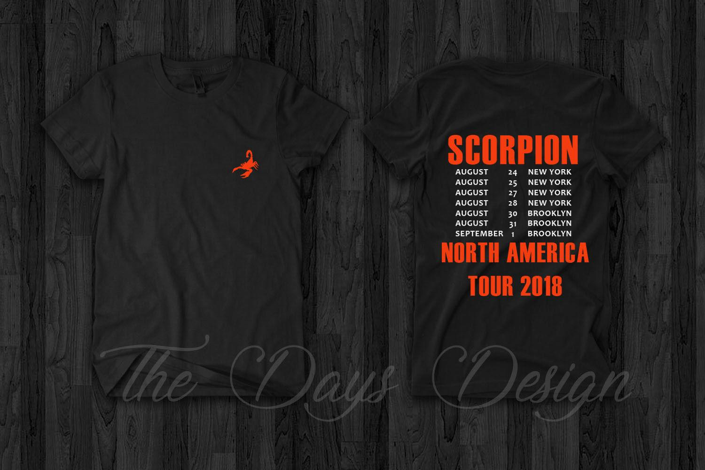 Compre Drake Scorpions Tour 2018 Merch Scorpion Rap Camiseta Champagnepapi  Lil Pump Camiseta Personalizada Impresa Hip Hop Funny Tee Para Hombre  Camisetas A ... bc9da45f351