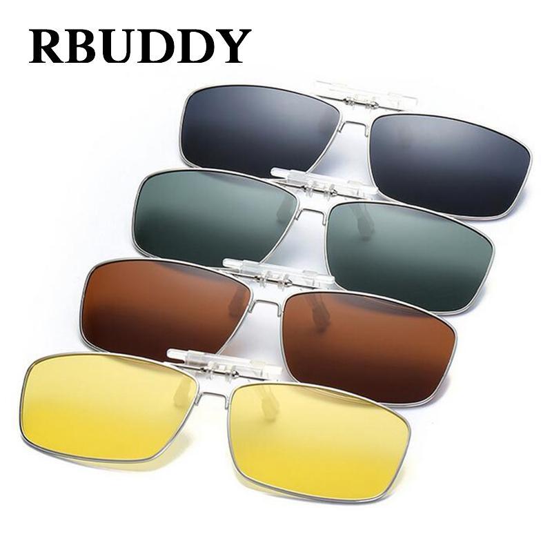 ae145f493599e Compre Rbuddy Clipe Polarizada De Alta Qualidade Em Óculos De Sol Dos Homens  Espelho De Visão Noturna De Condução Clipe Óculos De Sol Mulheres Óculos De  ...