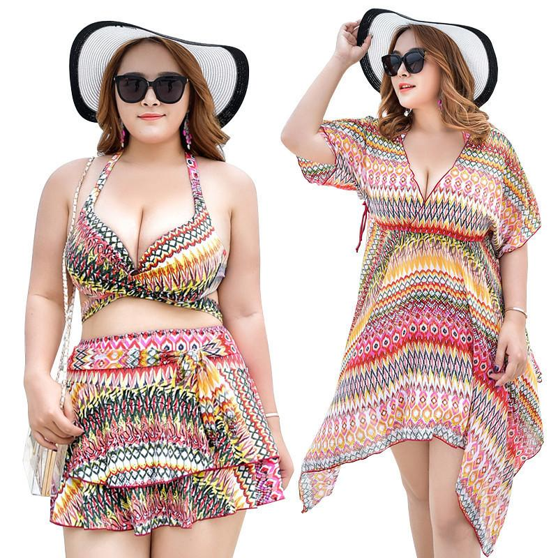 2019 2018 Swimming Suit For Women Plus Size Swimsuit Big Breast Push