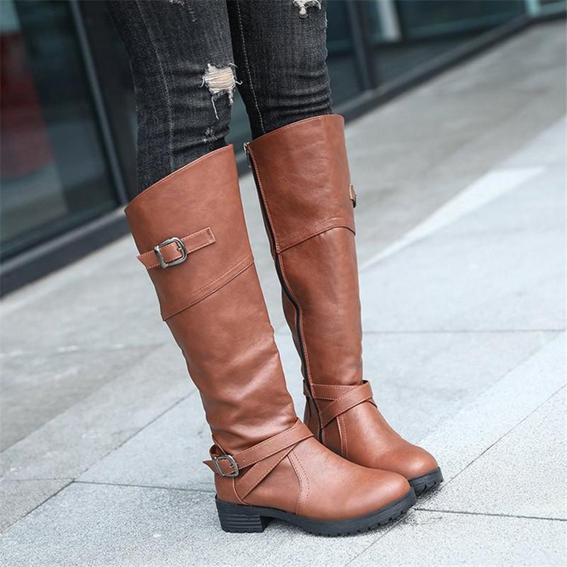 917b1380257 New 2018 Over The Knee Boots Women Woollen Boots Thigh High Platform Stretch  Slim Sexy Ladies Women S Winter Military Boots Walking Boots From Potatoo
