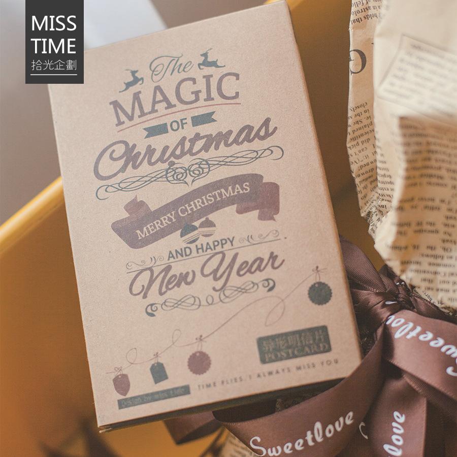 Compre 30 Pçs Saco De Presente De Natal Kawaii Cartão Para
