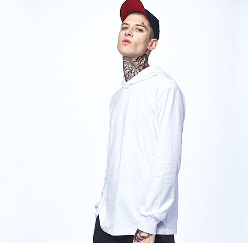 4 색 멀티 사이즈 뉴 타이드 브랜드 캐주얼 스포츠 얇은 영문 단어 두건 후드 긴팔 티셔츠