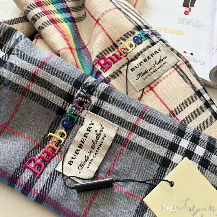 Großhandel Brand New Luxury Designer Marke Wolle Schal Regenbogen ...