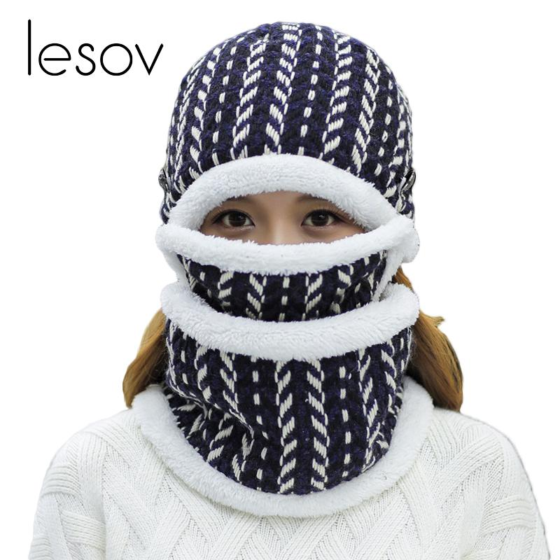 Compre Lesov 3 Unids / Lote Extraíble Beanie Sombrero Cuello Bufanda ...