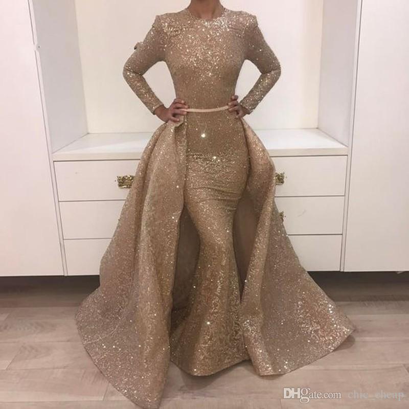 Мусульманская Русалка Вечерние Платья Турецкий Арабский Дубай Bling Уникальная Ткань Вечерние Платья Платье Для Свадьбы