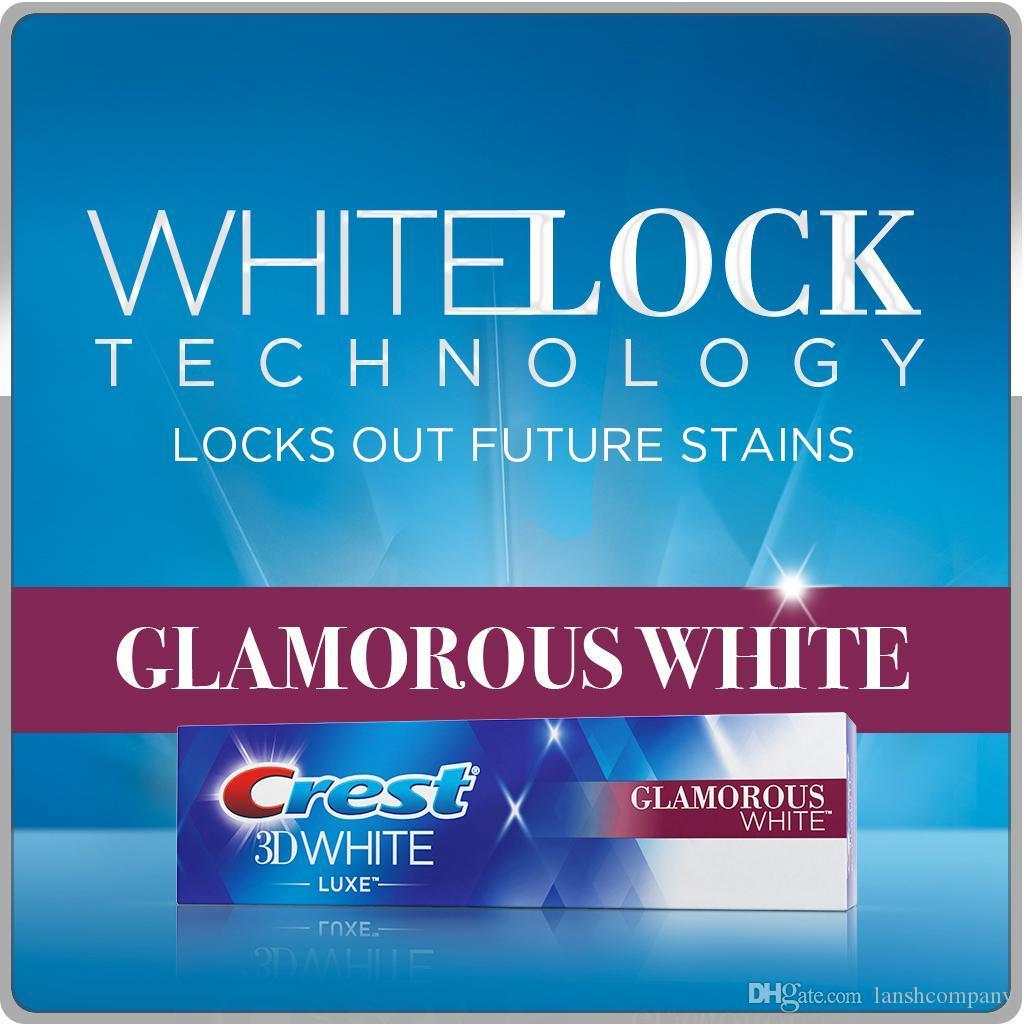 2つのクレスト3 dの白いラックス輝く白鳥の白鳥鮮やかなミント歯磨き粉4つのラックスパルサー歯ブラシ白く歯キット