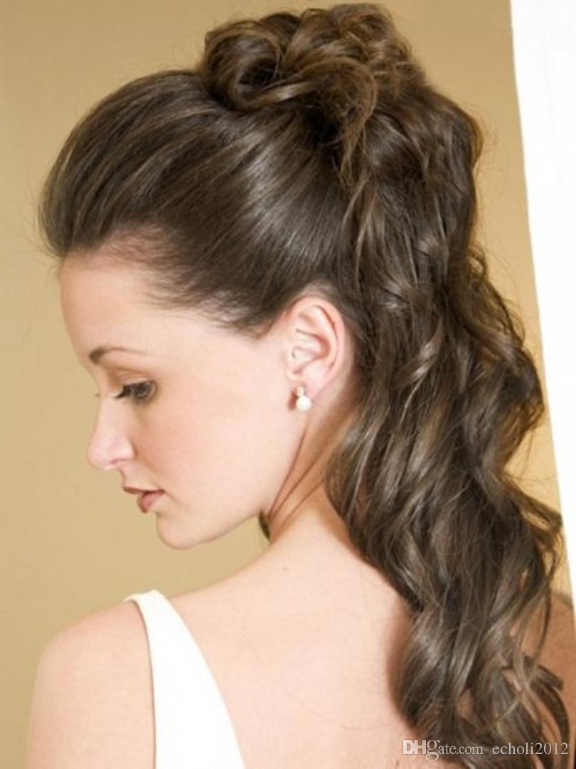 140g Wet wavy Human Hair Ponytail Extensions clip in black drawstring brazilian Virgin Hair Ponytail hair piece aviable 18inch