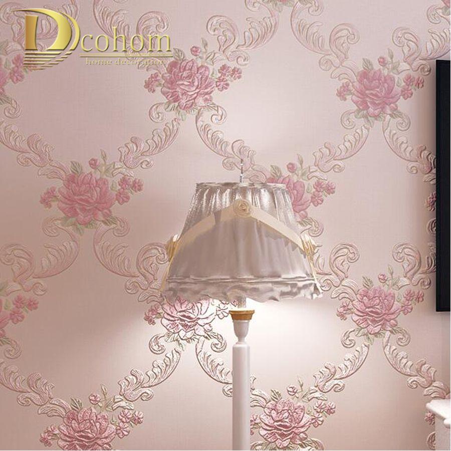 European Pastoral Damask Floral Wallpaper For Walls Bedroom Living