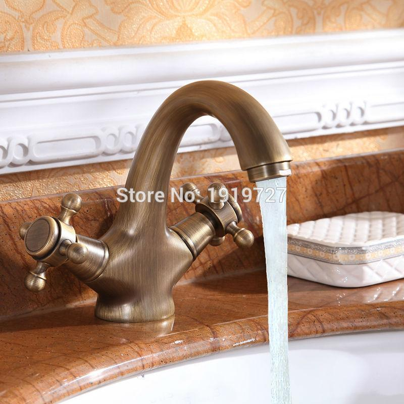 2018 Luxury Classic Antique Inspired Solid Brass Deck Mount Two ...