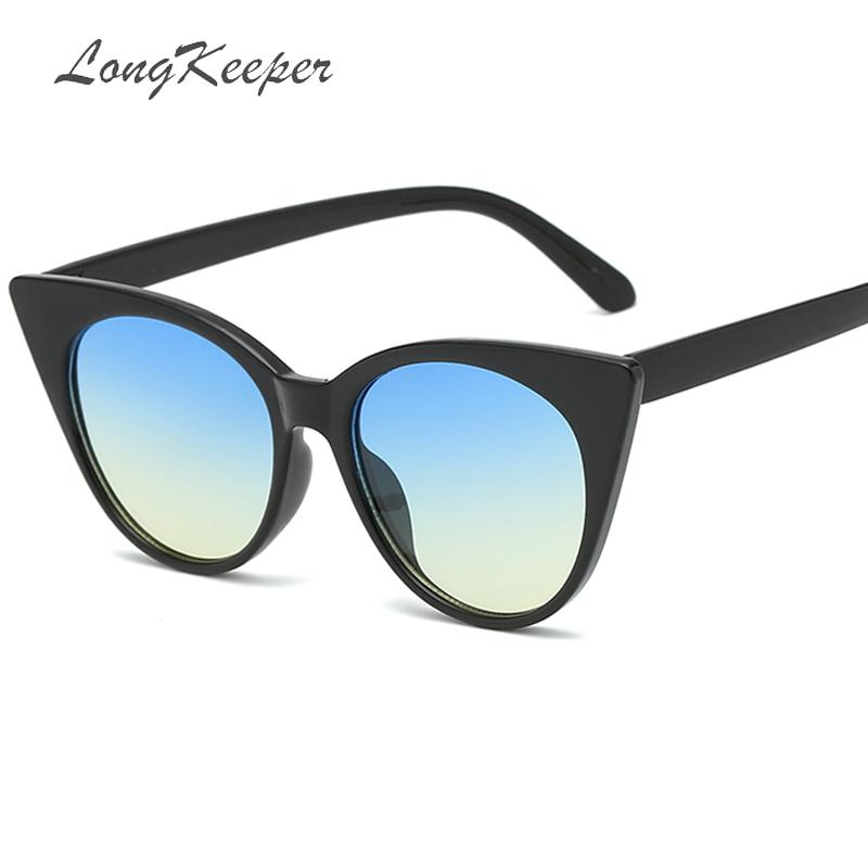 3f9204aa4c Compre 2019 Nuevo Ojo De Gato Mujer Gafas De Sol Lentes De Color Tintado  Hombres Gafas De Sol En Forma Vintage Gafas Mujer Gradiente Diseñador De La  Marca A ...