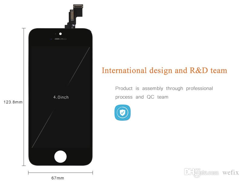 LCD Display for iPhone 5C Black Touch Screen Digitizer Full Assembly Replacement Repair Parts DHL shipping