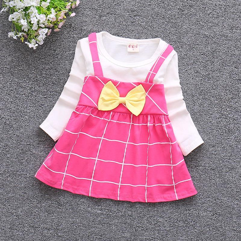 2019 Infant 1st Birthday Dress For Baby Girl Clothes 2018 New Autumn Casual  Long Sleeve Cotton Newborn Dresses Toddler Girl Clothing From Entent 92a09114404