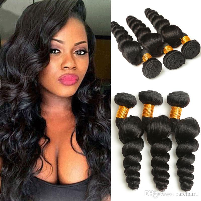 Brazilian Loose Wave Non Remy Human Hair Bundle Natural Color 8 30