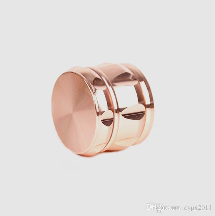 Four level drum type grinder new rose gold 63mm metal smoke cutter