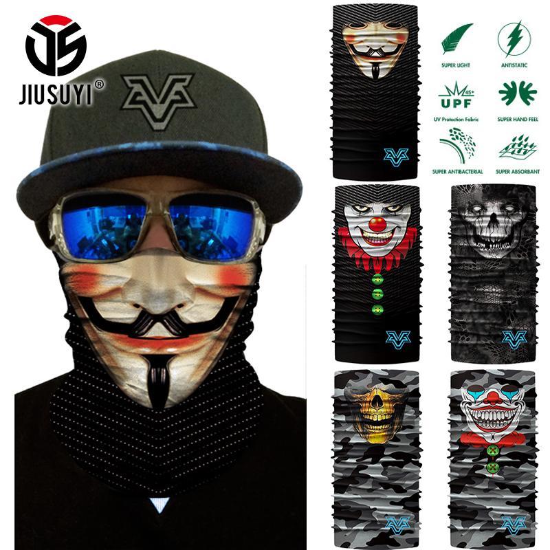 3d Skull Ski Cycling Snowboard Scarf Neck Warmer Face Mask Headwear Wraps Men Skull Ghost Neck Gaiter Tube Balaclava Face Mask Men's Masks