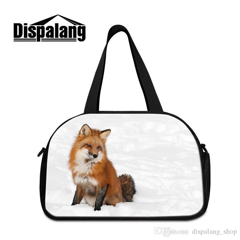 Animal Print Sports Shoulder Tote With Shoes Bag Handbag GYM Duffel ... 82d2fd397398d