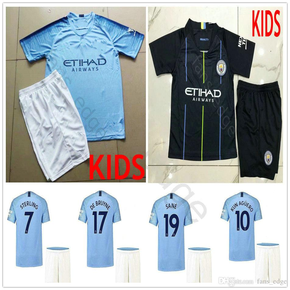 Kids 2018-19 Premier League 10 KUN AGUERO SANE G.JESUS MAN STERLING ... ecd60f81b2060
