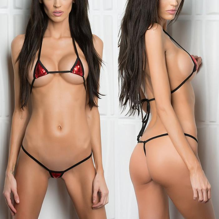 eb1bfe969a 2019 Minimal Coverage Sunbathing Micro Bikini Teardrop Mini G String Bikinis  Thong & Top Swimwear Extreme Sex String Swimsuit From Cailey, $42.6 |  DHgate.