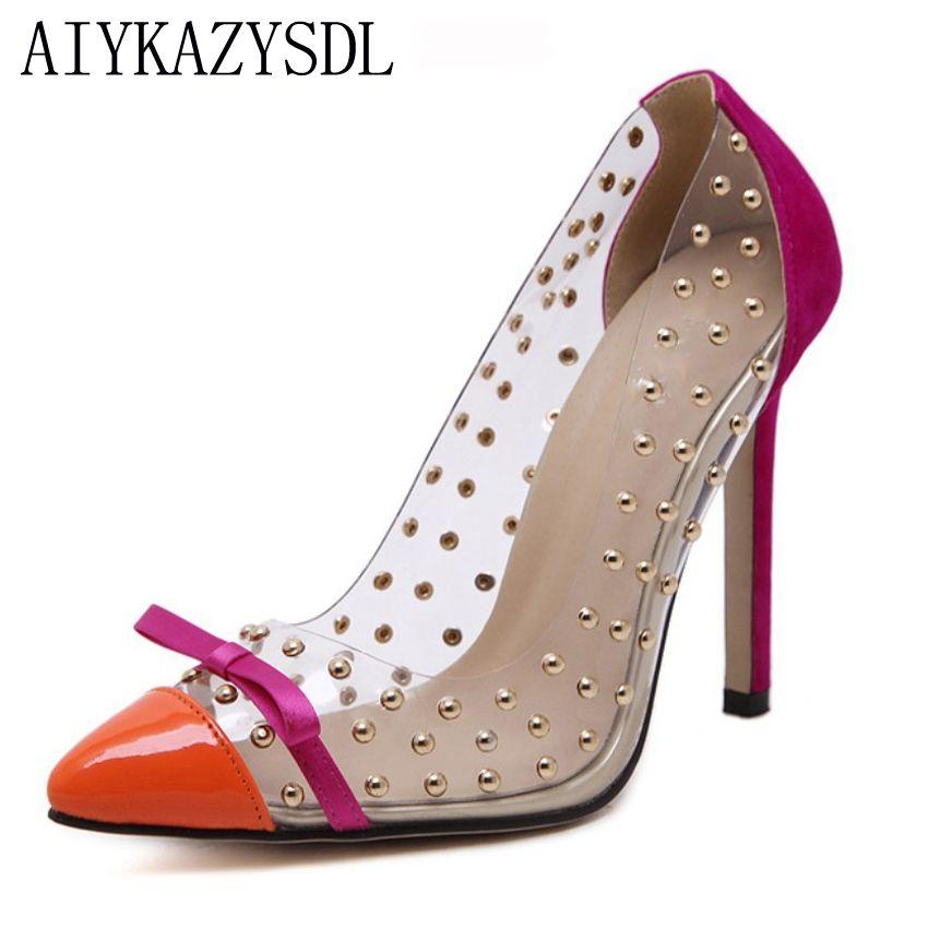 Size Aiykazysdl Acquista Pompe Pvc Trasparente 41 Plus Donna qFWxdvEw