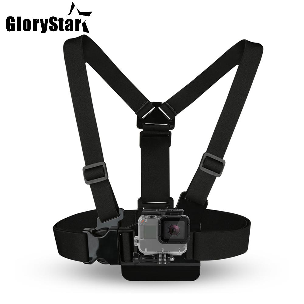 Chest Strap mount belt for Gopro hero 5 4 Xiaomi yi 4K Action camera Chest Mount Harness for Go Pro SJCAM SJ4000 sport cam fix dji osmo